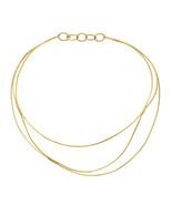 Auth Tiffany & Co 18K Yellow Gold Elsa Peretti Wire Collar Necklace Size... - $2,134.35