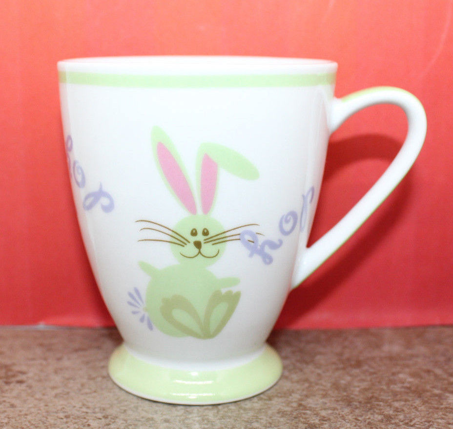 Primary image for Starbucks Coffee Easter Bunny Rabbit Hop Children Child Mug Cup 2007 Spring 7oz