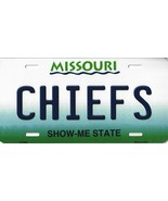 Chiefs Missouri State Background Metal License Plate Tag (Chiefs) - $11.35