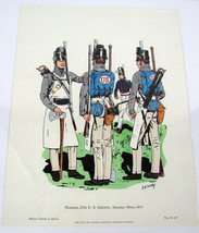 "Vintage Uniforms in America "" PIONEERS 25TH US INFANTRY 1814 ""  Art 14x1... - $5.82"