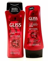 Schwarzkopf Gliss Repair Color Protect & Shine Shampoo 250ml + Condition... - $13.79