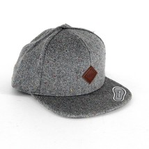 Vans Off The Wall Avery Gray Speck Wool Blend Adjustable Snapback Hat Cap - $24.95