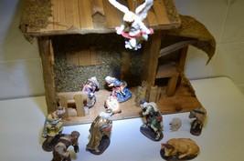 VINTAGE  12 pc  CHRISTMAS NATIVITY JESUS MANGER SCENE - $76.50