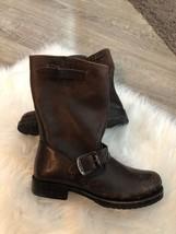 Frye Veronica Short Black Calf Hair Moto Biker Boots US 6 - $2.284,43 MXN