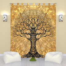 Indian Throw Cotton Voile Door Window Curtain Tab Top Sheer Scarf Valances - $10.76