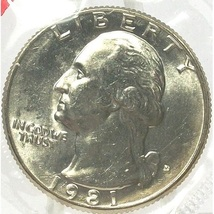 1981-D Washington Quarter MS65 In the Cello #688 - $4.79