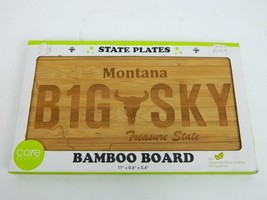 Bamboo Cutting Board State Plate Montana Big Sky Core Bamboo New - $29.95
