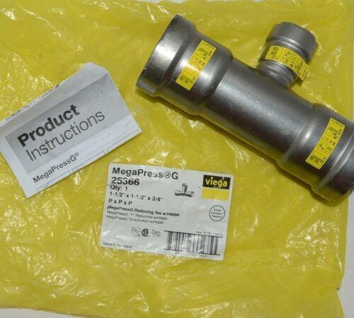 Viega MegaPress G 25366 Reducing Tee With HNBR Carbon Steel