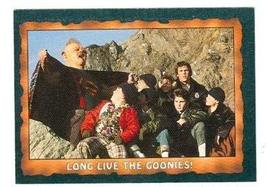 The Goonies trading card 1985 Topps #72 Long Live The Goonies - $4.00