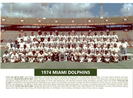 1974 Miami Dolphins 8X10 Team Photo Picture Nfl Football - $3.95