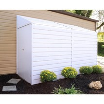 Metal Storage Shed Building 4 x 10 Lockable Double Door Versatile White ... - $464.60