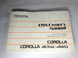 1988 Toyota Corolla ALL-TRAC 4WD Owner's Manual 01999-12490 - $28.98