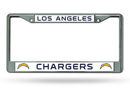 NFL Los Angeles Chargers Chrome License Plate Frame Thin Letters - $14.95
