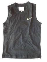 Nike Boys Size 6 Irregular Black Sleeveless Tank Top New  - $9.89