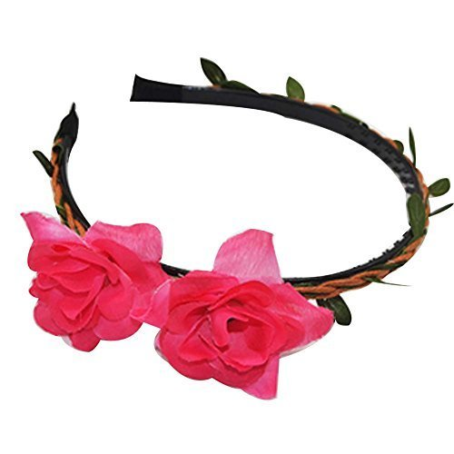 3 Pcs Lily Pattern Hair Accessories Woven Cloth Hair Bands Headdress
