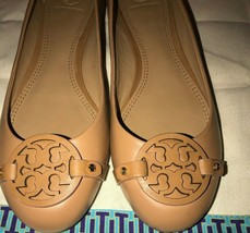 New Tory Burch Gabriel  Flat Veg Nappa Leather Tiramisu Color Size 6 - $108.90