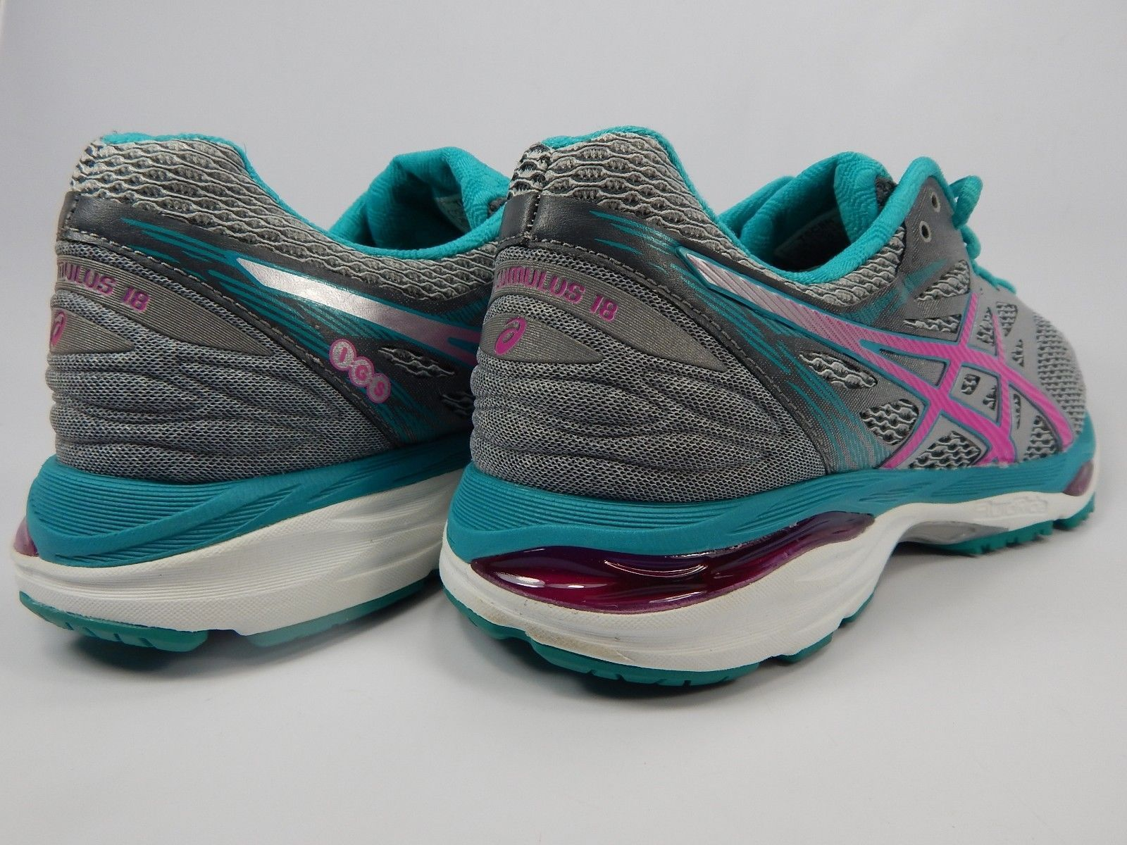 Asics Gel Cumulus 18 Size US 10 M (B) EU 42 Women's Running Shoes Silver T6C8N
