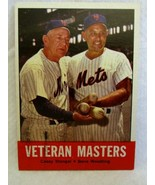 Casey Stengel/Gene Woodling 1963 Topps Card#43 EX/MINT Condition-Mets OF... - $19.79