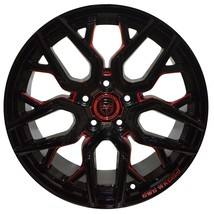 4 Gwg Nigma 18 Inch Black Red Mill Rims 18x9 Fits Ford Fusion 2017 - 2018 - $649.99