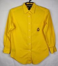 Lauren Ralph Lauren women's shirt yellow button front long sleeve cotton... - $21.78