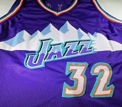 KARL MALONE / NBA HALL OF FAME / HAND SIGNED UTAH JAZZ CUSTOM JERSEY / COA image 2