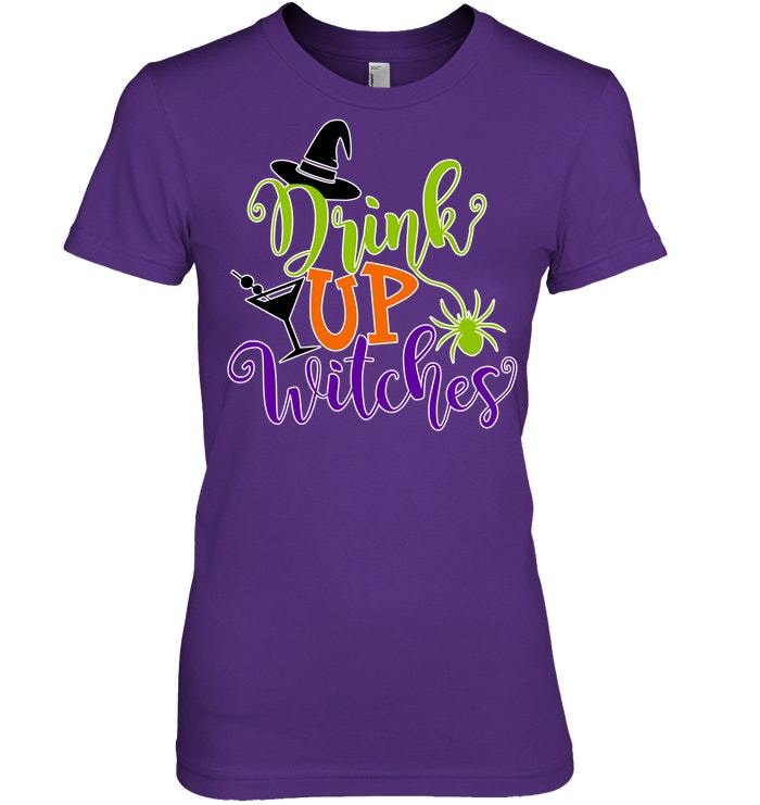 Drink Up Witches Halloween Ghost Tshirt for Men  Women