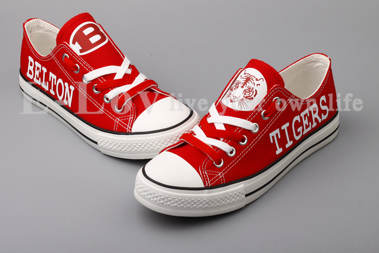 c46d36bc62c5a Belton Tigers Red Canvas Shoes Sneakers Hand and 50 similar items