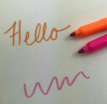 NPW 6 Piece Multi Color Coloring Fruit Scented Felt Tip Marker Pen Set Art 5+ image 3