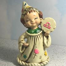 Josef Originals Wizard Elf Figurine Statue Zodiac Astrology Libra Justice Japan - $29.65