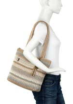 New! The Sak Amberly Classic Crochet Large Tote Terra Straw Stripe Bag - $48.95