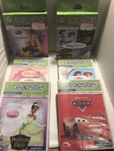 6 Leapster Leap Frog Learning Path Games Lot Disney Cars Tangled Toy Story - $21.49