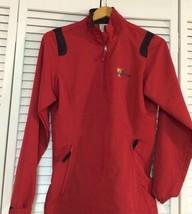 Nike Golf Red Half-Zip Jacket Pullover Windbreaker XS Presidents Cup PGA... - $28.48