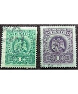 Two 1899 Stamps from Mexico One  Centavo - $0.99