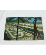 Vintage Rio de Janiero Postcard New Copacabana Beach 34894 Brazil - $11.87