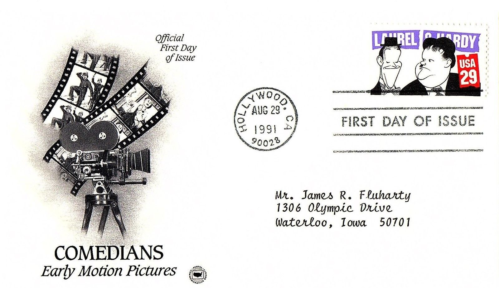 August 29, 1991 First Day of Issue, Postal Society Cover Comedians, Pictures #3