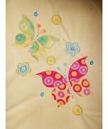 Butterfly Baby Blanket Yellow Pink Green Sherpa Minky Dot Bumps - $29.68