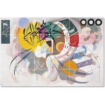 Wassily Kandinsky Abstract Painting Tile Murals BZ22714. Kitchen Backsplash Bath - $240.00+