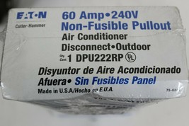 2 Eaton Cutler-Hammer DPU222RP Non-fusible Pullout Air conditioner Disconnect  image 2