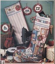 Cross Stitcher's Studio Seamstress Cuff Christmas Stocking Towel Peg Pat... - $11.99