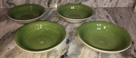 """Royal Norfolk 7 1/2""""Soup Cereal Bowls Set Of 4 Green Swirl(New)SHIP24H VERY RARE - $47.40"""