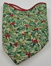 Longaberger 2003 Joyful Chorus Basket Liner American Holly Collectible Fabric - $12.99