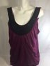 Maurices Women Purple Scoop Neck Tank Top  Size 3 - $14.01
