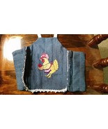 Chicken saddle with mother hen and baby SOLD - $12.50