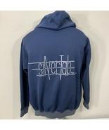 Vintage Levis Jacket Silvertab Jeans Hoodie Large 90s Strauss Sweatshirt... - $71.99