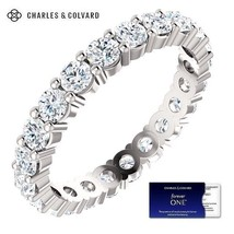 14K Gold 2.00 Carat Moissanite Forever One Eternity Ring - Charles & Col... - $1,299.00