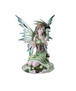 Summer Princess Flower Fairy and Dragon Mystical Statue Figurine Meadow - $38.01