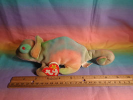 Vintage 1997 Ty Beanie Baby Rainbow Chameleon Bean Bag Plush w/ Tags - as is image 7