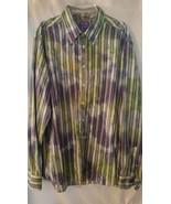 SAND Pink Label Luxury WILD Paisley Stripe Gree... - $19.99