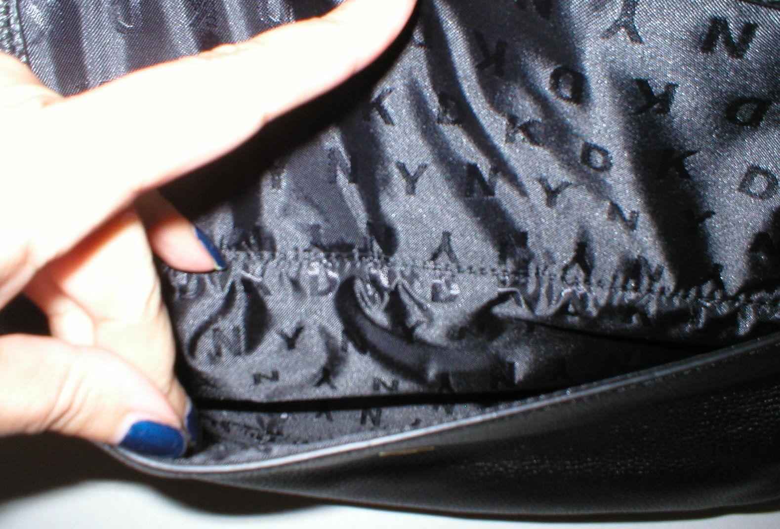 NWT New Womens DKNY Black Zip Hobo Bag Handbag Logo Work Leather Bessie Office