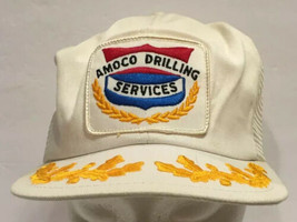 Vtg Amoco Drilling Services Mesh Snapback Trucker Hat Cap K Products USA... - $28.04